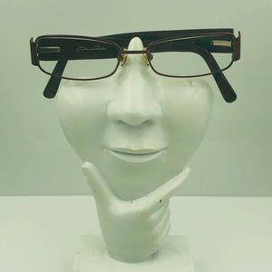 Oscar De la Renta OSL710 Red Oval Sunglasses Frame